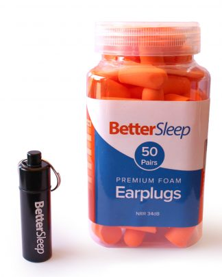 Better Sleep 34dB Foam Ear Plugs for Sleeping, Snoring, Shooting, Loud Work Environments