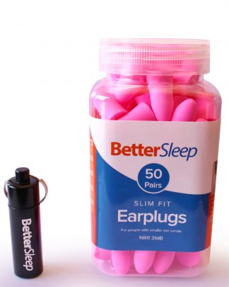 Better Sleep Slim Fit Ear Plugs for Women With Smaller Ear Canals, Sleeping, Snoring, Office, Travel